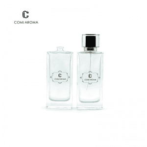 50ml  Clear Glass Perfume Bottle with Black Pump Sprayer