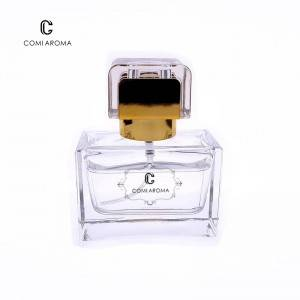 30ml Square Clear Container Perfume Glass Bottle