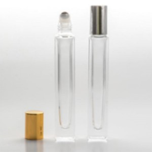 Wholesale Discount Natural Skincare Packaging - 10ml Square Roller Bottle With Golden and Silver Screw Cap – Comi