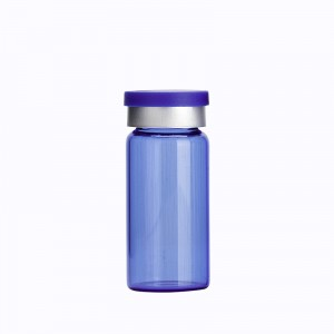10ml Blue Homeopathic Glass Vials