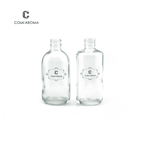 100ml Clear Cosmetic Glass Bottle with Dropper Cap