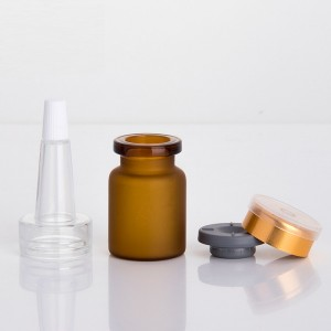 Hot New Products Skin Care Bottles Packaging - 5ml Frosted Amber Glass Vials With Cork Stoppers – Comi