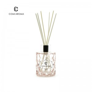 50ml Customized Reed Diffuser Glass Cosmetic Aroma Bottle with Rattan