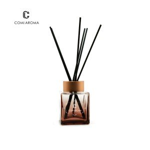 Factory selling Stick Essential Oil Diffusers - 100ml Square Color Painting Air Freshener Glass Diffuser Bottle – Comi