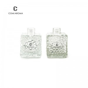 200ml Water Cube Shape Diffuser Glass Bottle with screw cap