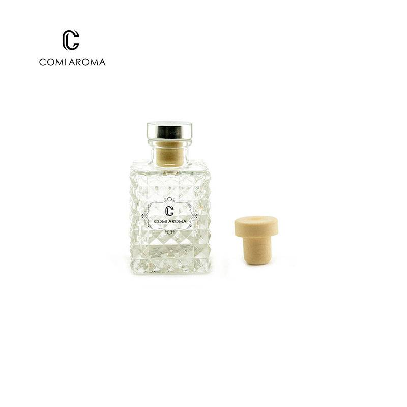 90ml Luxury Water Cube shape diffuser glass bottle Featured Image