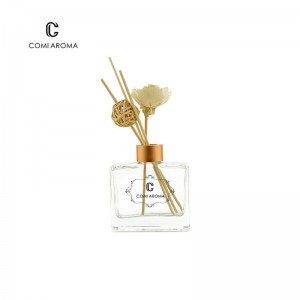 OEM Best Fragrance Diffuser Factories - 110ml Square Reed Diffuser Glass Bottle with Cap – Comi