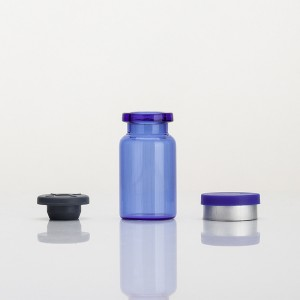 Factory source Empty Skin Care Bottles - 7ml Blue Glass Vials with Stopper – Comi
