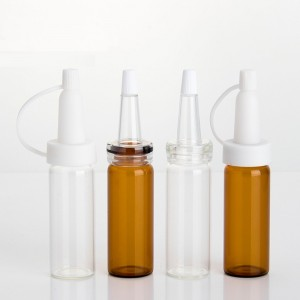 Clear and Amber 15ml Borosil Glass Vials