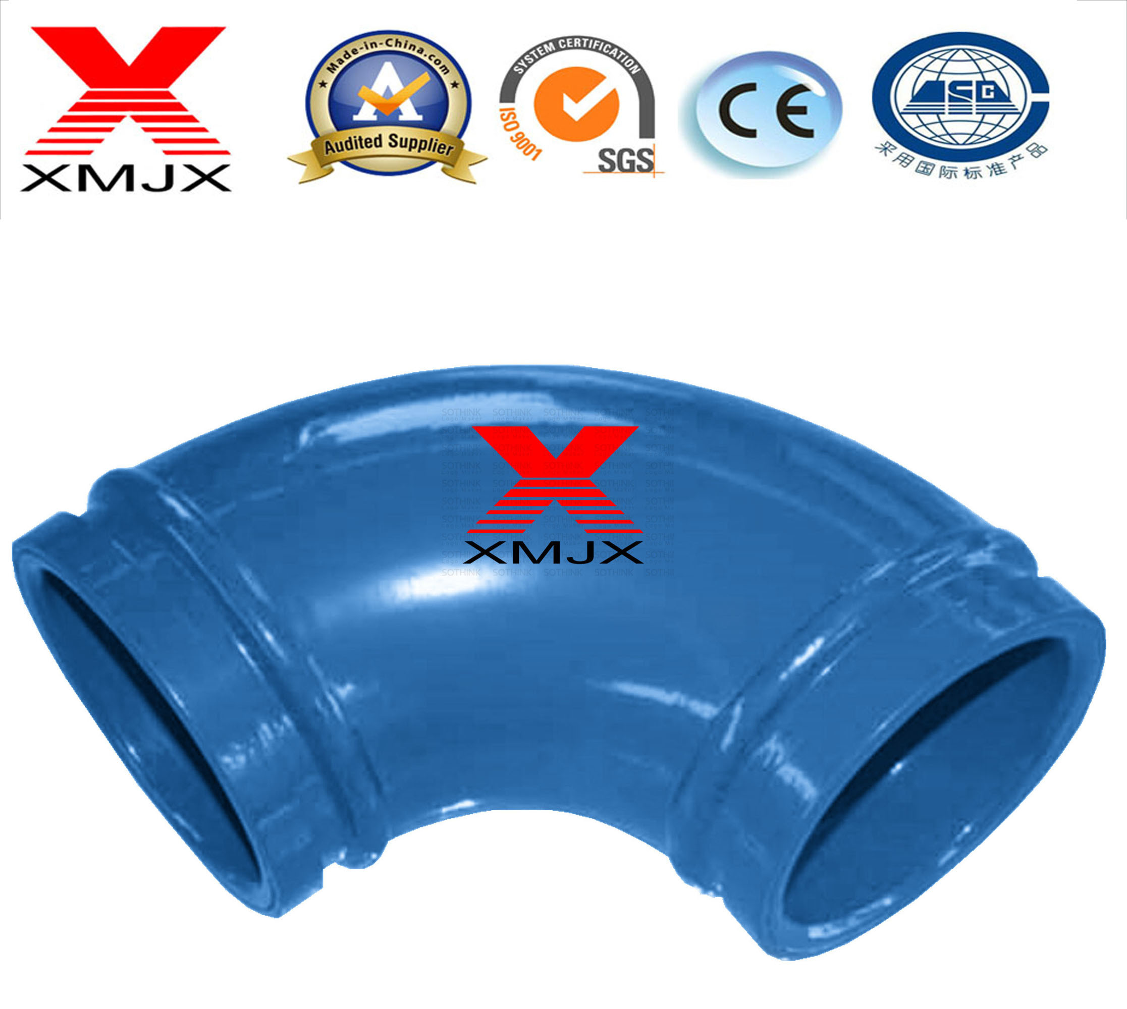 Construction Machinery Parts Twin Wall Elbow DN125 for Concrete Pump