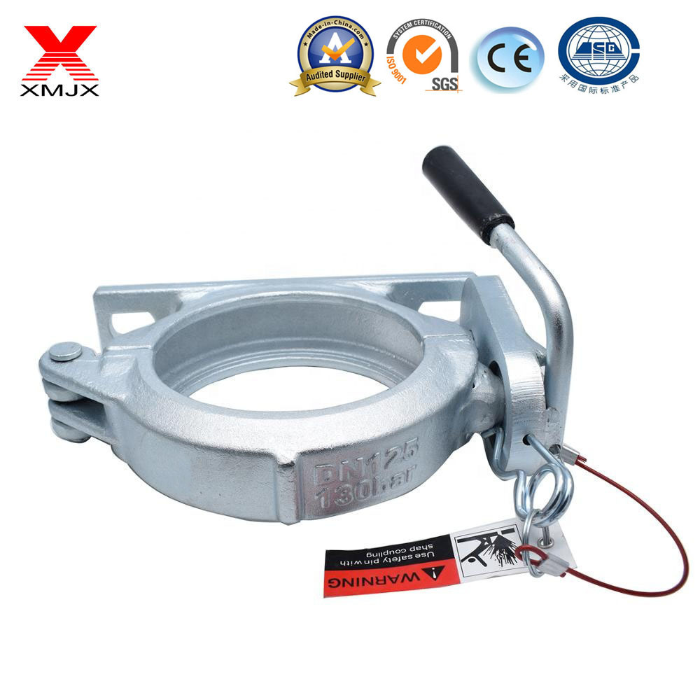 White Color Concrete Pump Clamps in Construction Industry