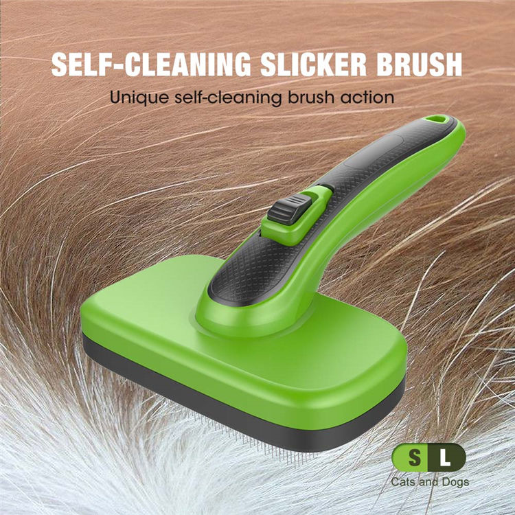 Self Cleaning Slicker Brush For Dogs Featured Image