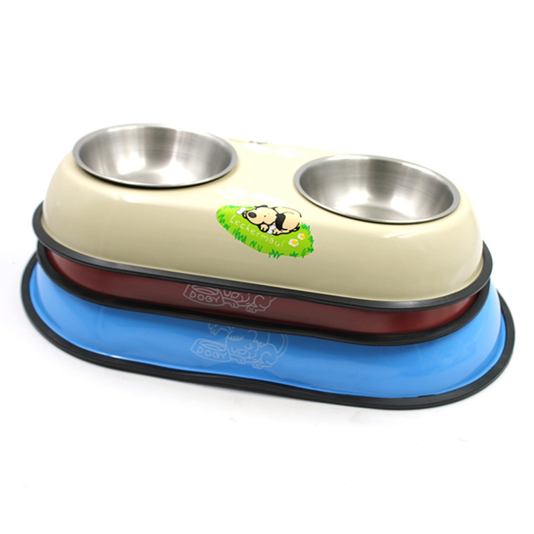 Double Stainless Steel Dog Bowl