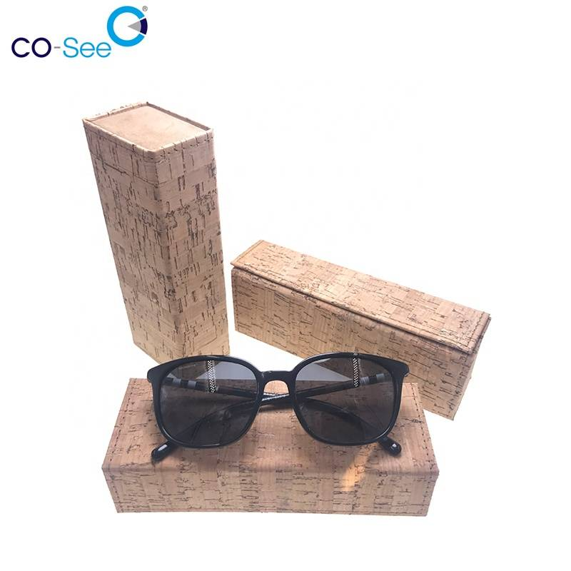 Bottom price Sunglass Case Packaging - Sales promotion exquisite workmanship square cork eco wooden sunglasses trendy glasses case – Co-See Featured Image