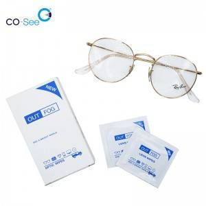 Factory One-off OEM Disposable Anti Fog Optical Glasses Cleaning Lens Wet Wiping Paper Tissue