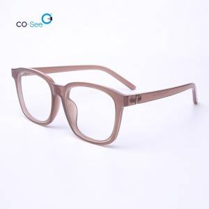 Top Suppliers Optical Glasses Eyeglasses Frames - New Korea Stylish Handmade Clear Round Optical Eye Glasses Frames – Co-See
