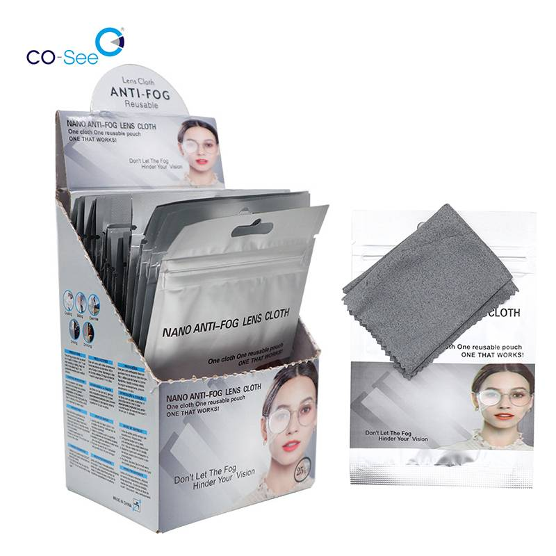 Reusable Wiping Microfiber Wet Anti Fog Optical Glasses Eyeglasses Cleaning Cloth Featured Image