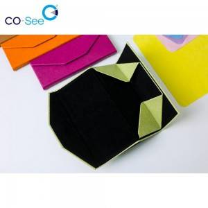 Factory Price Optical Case - Wholesale fashion designer OEM custom LOGO leather triangle folding sunglass case – Co-See
