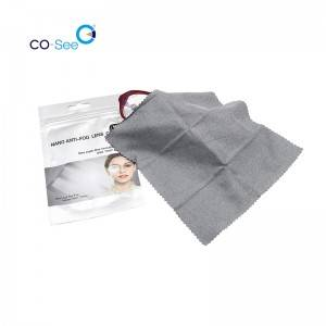 Reusable Wiping Microfiber Wet Anti Fog Optical Glasses Eyeglasses Cleaning Cloth