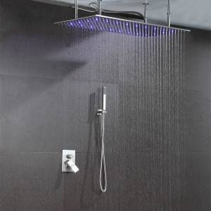Ceiling mounted LED retangular shower head