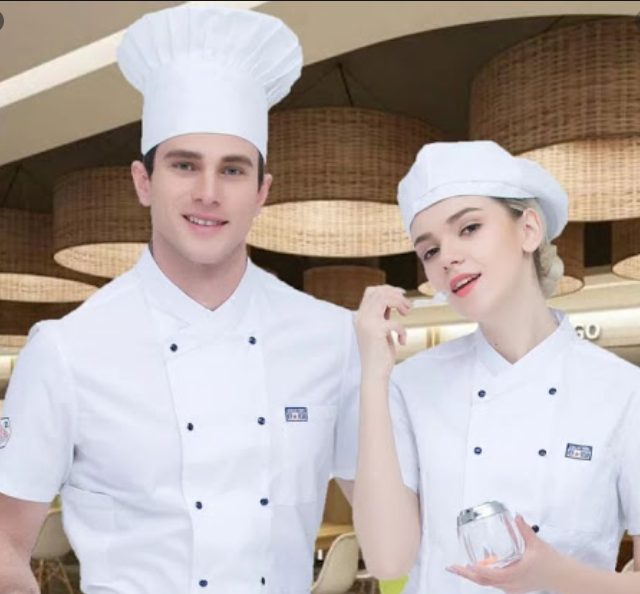 chefs uniform,chef jacket,top,men chefs jacket,top,hats,short sleeve jacket Featured Image