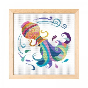 Wholesale Beginner Kits Home Decoration Fabric Cross-stitch Craft DIY Kits Aquarius Pattern Embroidery Kits  15005