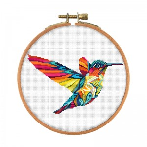 Room wall decoration color bird pattern cross stitch painting cross stitch decorating  15136