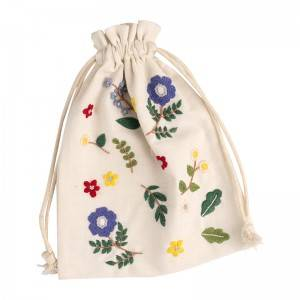 Hot selling new fabric embroidery Drawstring Jewelry Bag dustproof storage bag No.560118