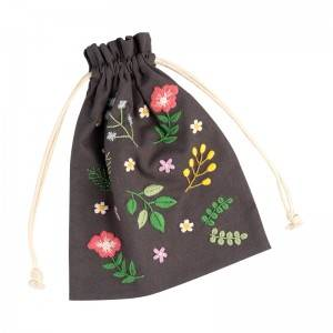 New fashion hand embroidery DIY material bag Sachet storage bag Drawstring Jewelry small bag No.560119