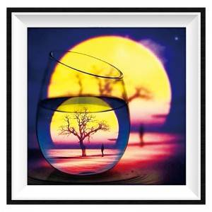 Full Round Diamond Painting Glass Cup Scenery 5D DIY Diamond Embroidery Mosaic Art Kits Home Decoration Item No.12310
