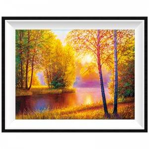 Diamond Painting Forest autumn Landscape Picture Diamond Acrylic diamond 5d  of  Mosaic Kits Home Decoration Item No. 12315