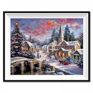 Factory Direct Sale Christmas Pattern DIY Diamond Painting Home Decoration Craft Design Pattern Diamond Art Painting12016