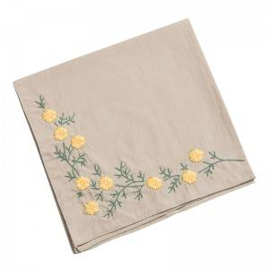 High quality  Handkerchief Colored Embroidered Square Hanky Ladies Handkerchief  513503