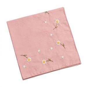 High quality  Handkerchief Colored Embroidered Square Hanky Ladies Handkerchief  513505