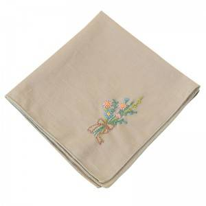 High quality  Handkerchief Colored Embroidered Square Hanky Ladies Handkerchief  513511