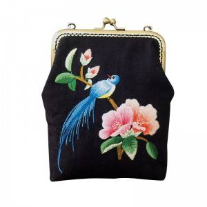 Best quality Linen Embroidery Kits - New style manual DIY material bag zero wallet mouth gold bag hand-held straddle dual-purpose patchwork messenger bag511820 – Yiwu Embroidery
