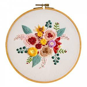 Super Lowest Price Hand Embroidery Material - Direct Sale DIY Craft Plants Embroidery Set Plastic Wooden Hoop Needlework Embroidery Kits For Home Decor 511220 – Yiwu Embroidery