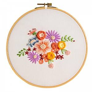 Wholesale Embroidery Frame - Direct Sale DIY Craft Plants Embroidery Set Plastic Wooden Hoop Needlework Embroidery Kits For Home Decor 511221 – Yiwu Embroidery