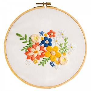 2020 High quality Cross Stitch Kits - Direct Sale DIY Craft Plants Embroidery Set Plastic Wooden Hoop Needlework Embroidery Kits For Home Decor 511222 – Yiwu Embroidery