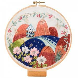 Wholesale Price Embroidery Canvas Art - Direct Sale DIY Craft Plants Embroidery Set Plastic Wooden Hoop Needlework Embroidery Kits For Home Decor 511202 – Yiwu Embroidery