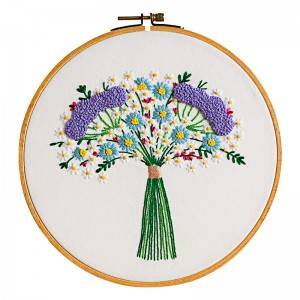 High Quality Aida Cloth For Embroidery - Direct Sale DIY Craft Plants Embroidery Set Plastic Wooden Hoop Needlework Embroidery Kits For Home Decor511215 – Yiwu Embroidery