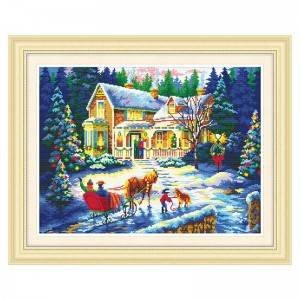 DIY diamond painting home decoration art mural new product snow scene wholesale art painting Item No.71622