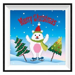Wholesale DIY Christmas 5 Diamond Painting Kits Acrylic Cartoon Snowman Diamond Painting Item No.12201