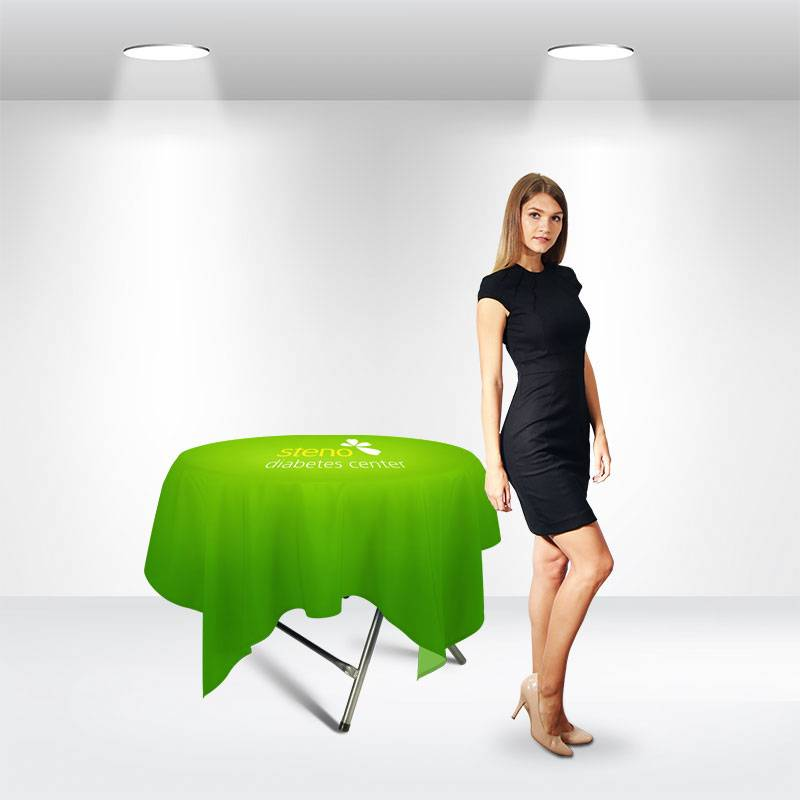 Square Table Covers for Round Display Table Featured Image