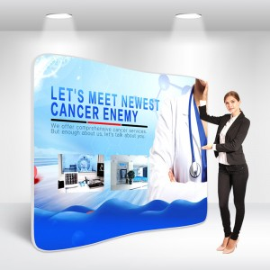 Curved Tension Fabric Display