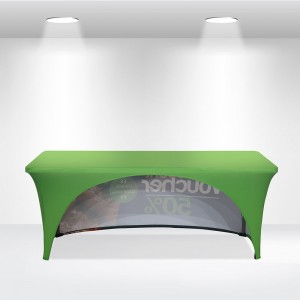 Stretch Table Covers with Open Back
