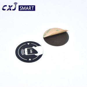 Custom Waterproof PVC PET RFID on metal NFC Tag
