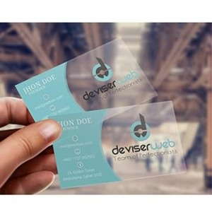 Custom printed Plastic pvc Transparent Visiting Business Name Card  printing