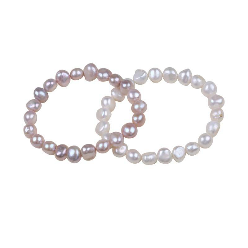 Manufacturer of Freshwater Pearl For Making Necklace - 9-10mm Baroque Shape Women Freshwater Pearl Bracelet – Daking