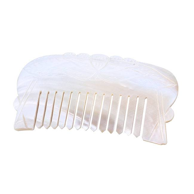 Natural Mother Of Pearl Shell Comb For Gift